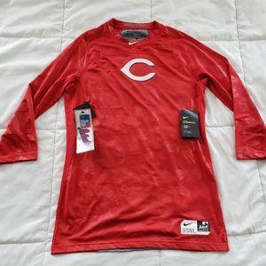 Nike Pro Cincinnati Red Hypercool ¾ Sleeve Top